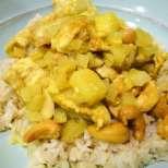 Индийско къри с пиле и ананас