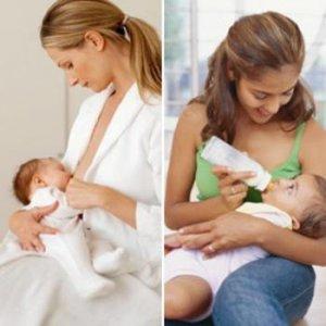 Как да храним бебето-с кърма, или адаптирано мляко