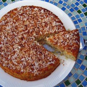 Лесна лимонова торта с кокос