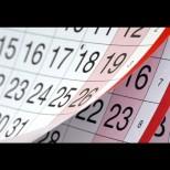 Календар на почивните дни свързани с националните и религиозни празници през 2016 г.