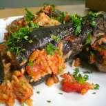 Патладжани на фурна с вегетарианска плънка