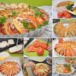 Лесна солена торта-ветрило