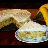 Бърза бананова торта с бисквити