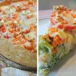 Зеленчуков киш с колбас