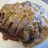 Печено свинско със сметана и горчица