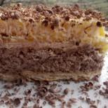 Оригинална и вкусна крем торта със сутляш