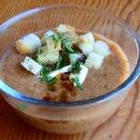 Лучена супа със сметана и горчица