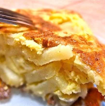 Омлет с картофи и яйца