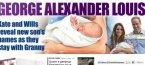 Синът на принц Уилям и Кейт се казва Джордж Александър Луи