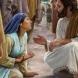 Притча за сляпата майчина любов: Веднъж при Бога дошла една жена. Тя била прегърбена под тежестта на един голям чувал ...