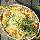 Запеканка със зеленчуци и картофено пюре