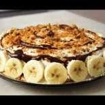 Супер бърза бисквитена торта с банани