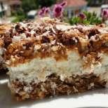 Красива торта с кокос