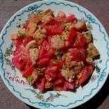 Италианска салата с домати и хляб