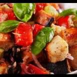 Зеленчукова салата с кубети