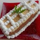 Бърза пудинг торта с бисквити