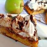Обърнат ябълков сладкиш с карамел