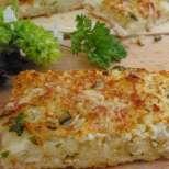 Ароматна пица със сирене и чесън