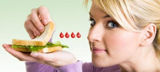 """Хранене според кръвната група """"аб"""" за жената."""