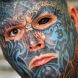 Мъж си направи 3D татуировка на лицето