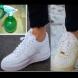 Използвайте този прост трик за почистване на замърсените бели обувки! Направете ги снежно бели отново!