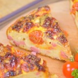 Бърза бъркана пица за заети домакини - рецепта с видео