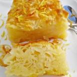 Студена лимонена пита със сироп - хапка свежест в летния следобед
