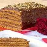 Постна медена торта с бира