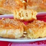 Охлювчета със сирене и готови кори