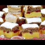 Пъстър сладкиш с вишни и орехи