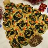 Новогодишна елха от тесто