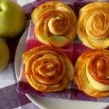 Ябълкови цветя с мармалад