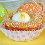 Мини банички с варени яйца във форма за мъфини