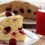 Лесен ванилов кекс с вишни - стъпка по стъпка