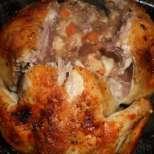 Пълнено пиле с гъби и кашкавал