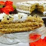 Орехова капучино торта
