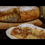 Стъргана селска пита с мармалад и орехи