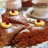 Лесен чаен кекс с какао и сладко (стъпка по стъпка)
