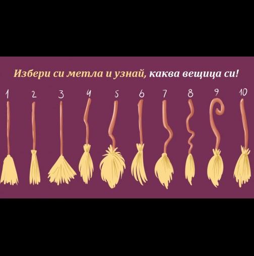 Само за жени с чувство за хумор - супер забавно и право в десетката! Избери коя метла ще яхнеш и узнай, каква вещица си!