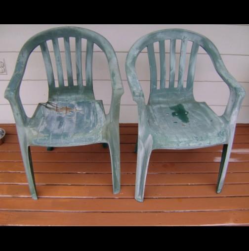 Имах 2 много стари стола на балкона и мислих да ги хвърля, но тогава ми дойде гениалната идея да направя това (снимка)