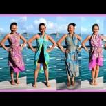 Пола или рокля: 9 начина да вържете шала за плаж (Видео)
