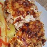 Късано пиле на фурна с гъби и кашкавал - и представа нямате колко е вкусно!