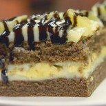 Тропически сладкиш с банани и ананас - лесна рецепта с видео