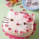Детска торта Hello Kitty с малини за послушни принцеси