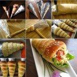 Увийте ленти тесто около фолио, напълнете с любимата салата и ще вземете ума на гостите си!