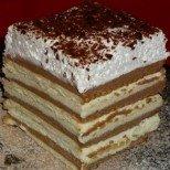 Богата бисквитена торта с пандишпанов блат и крем
