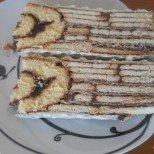Феноменален на вид и вкус: Сладкиш Пауново око - безподобно вкусно съчетание от бисквитки, пудинг и шоколад