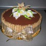 Празнична торта с пурички
