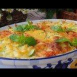 Превкусна запеканка с макарони и зеленчуци