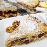 Постна ябълкова пита с орехи - без мляко и яйца, но невероятно сочна и вкусна